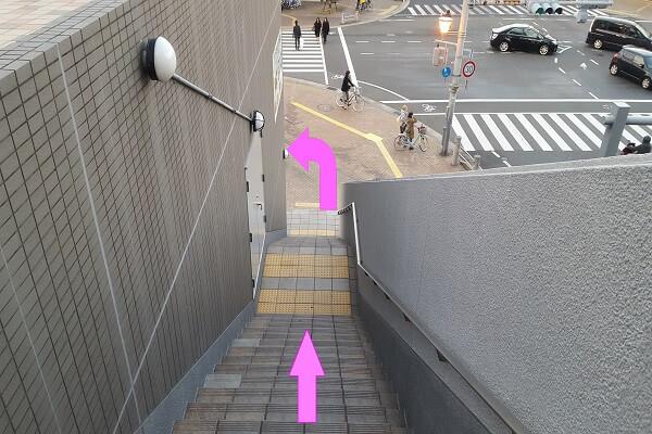 モバックス西宮北口店までの道順8