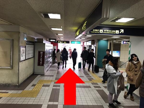 iPLaNT神戸三宮駅前店への道順4